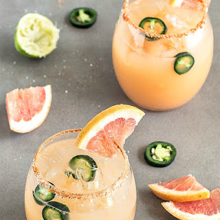 Spicy Grapefruit Jalapeño Margarita