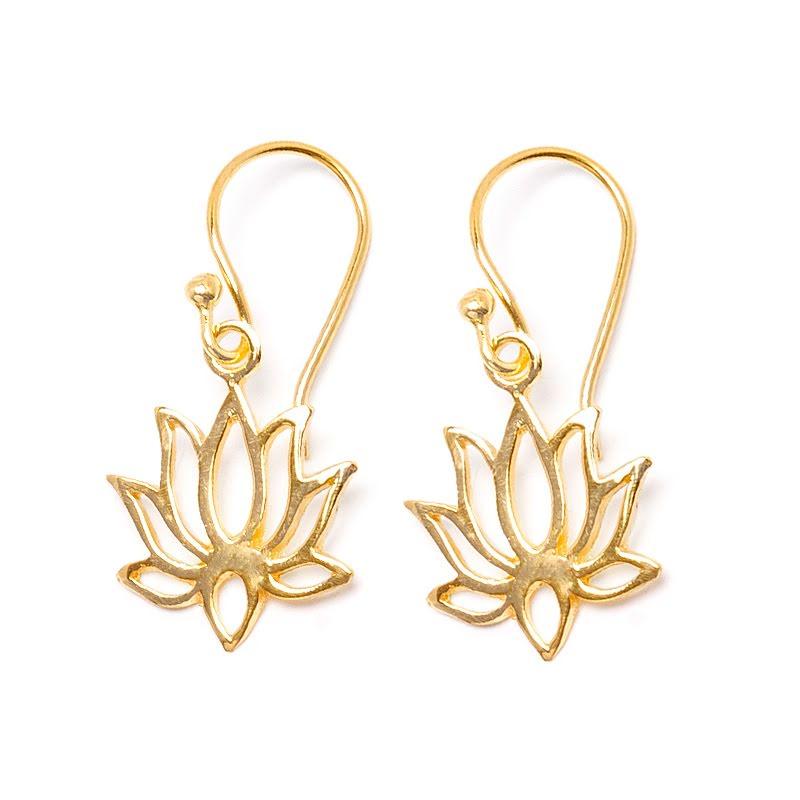 Lotus, örhänge guldpläterad mässing