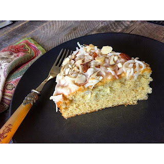 GF Flourless Almond & Coconut Cake.