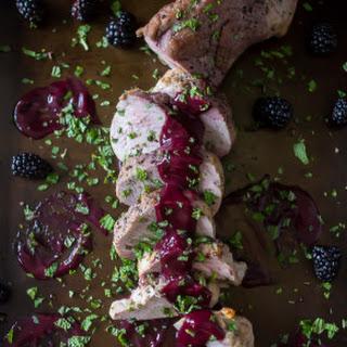 Pork Tenderloin with Blackberry Mint Sauce