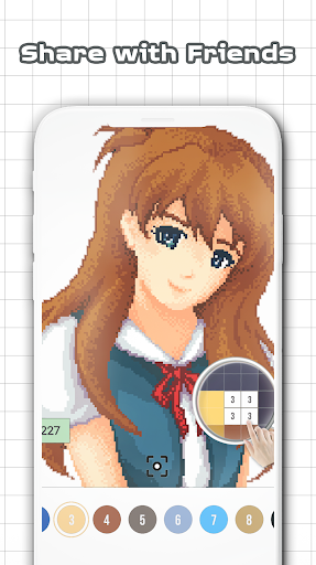 Anime & Manga Color by Number - Sandbox Pixel Art Juegos (apk) descarga gratuita para Android/PC/Windows screenshot