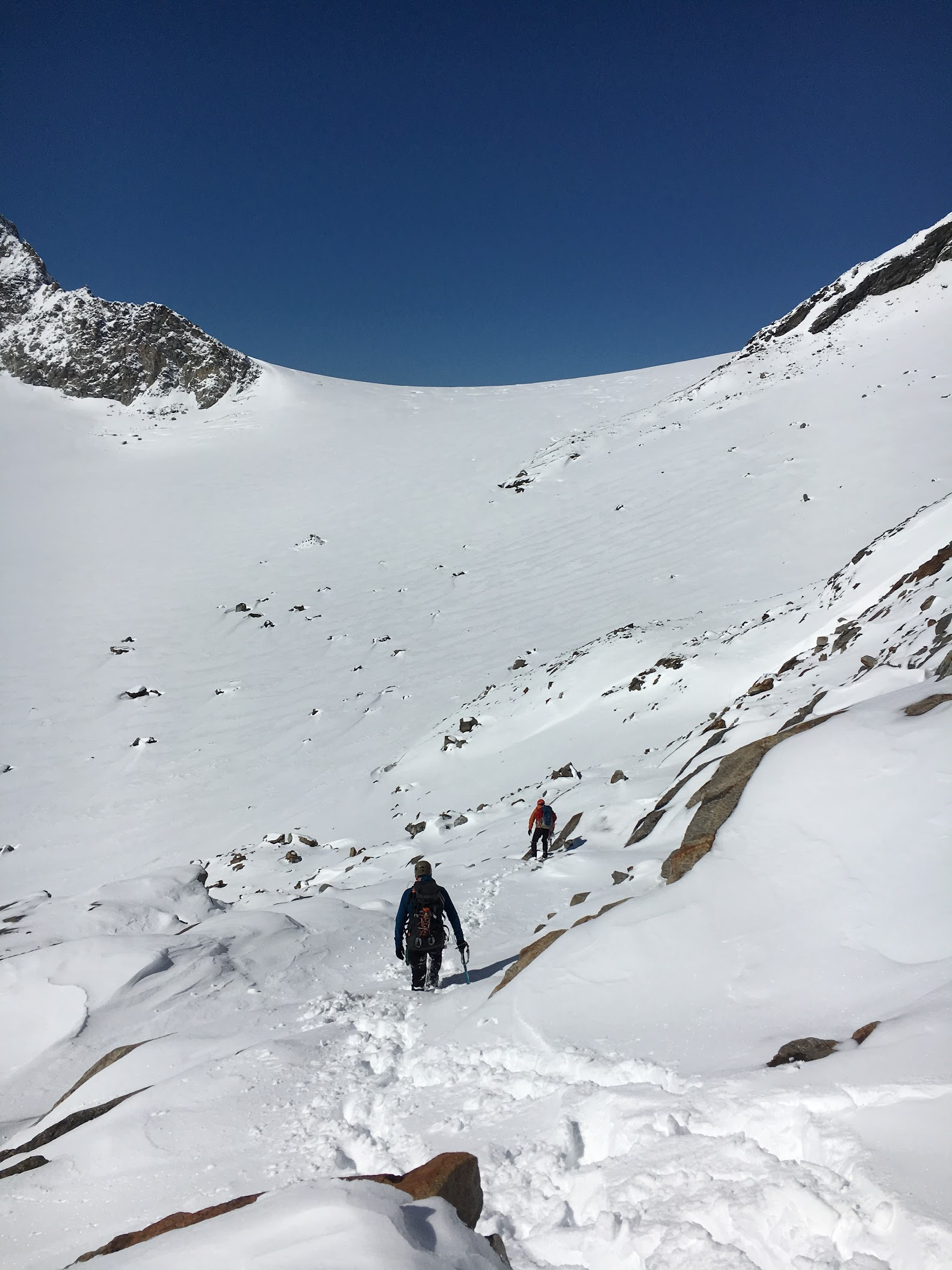 Descending to the Silvretta glacier