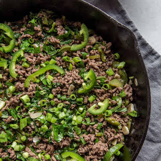 30-Minute Thai Beef Stir Fry with Basil & Chiles.