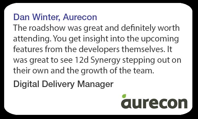 Dan Winter Aurecon 12d Synergy Roadshow Testimonial