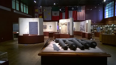 Photo: Interior Museum of the Coastal Bend with La Salle cannons