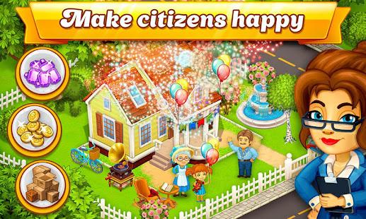 Cartoon City: farm to village. Build your home Mod