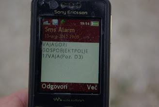 Photo: SMS Alarm!
