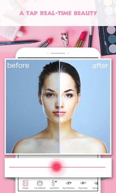 Pretty Makeup, Beauty Photo Editor & Selfie Camera Android App Screenshot