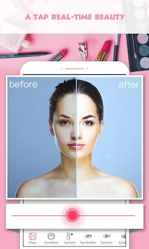 Pretty Makeup, Beauty Photo Editor & Snappy Camera Android App Screenshot