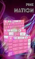 Screenshot of Pink Nation Keyboard
