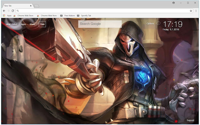 Overwatch Reaper HD Wallpaper New Tab Themes | HD Wallpapers