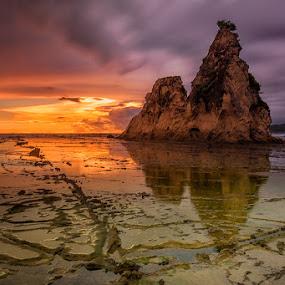 tanjung layar by Eko Sumartopo - Landscapes Sunsets & Sunrises ( sawarna, tanjung layar )