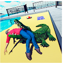 Angry Crocodile Beach Attack Animal Simulator icon
