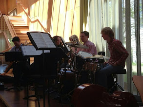 Photo: The University Sax Ensemble performing as part of Jazz Day during Summer Music week.