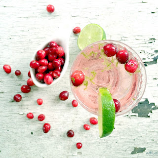 Sparkling Cranberry Blackcurrant Lime Cocktails.
