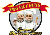 Two Fat Guys Gourmet Sauces logo