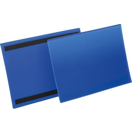 Plastficka A4L magnetisk blå
