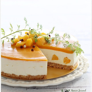 No-Bake Mango Yogurt Cheesecake