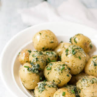 Garlic Potatoes with Dill.