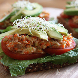 Open Faced Tuna Sandwich with Avocado