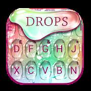 Rainbow Waterdrops Keyboard Theme
