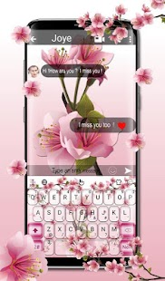 Pink Orchids Garden Keyboard Theme - náhled