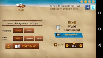 Screenshot of iTavli-All Backgammon games