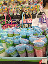 Photo: Also near the door, was a set up of Easter grass, plastic eggs, and baskets. I picked up some of the Easter grass as I know I will need this for the basket that I will have in my Easter tabletop.