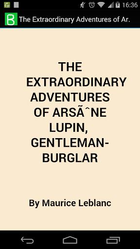 Arsene Lupin Gentleman-Burglar