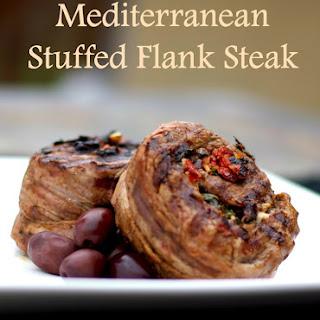 Mediterranean Stuffed Flank Steak.