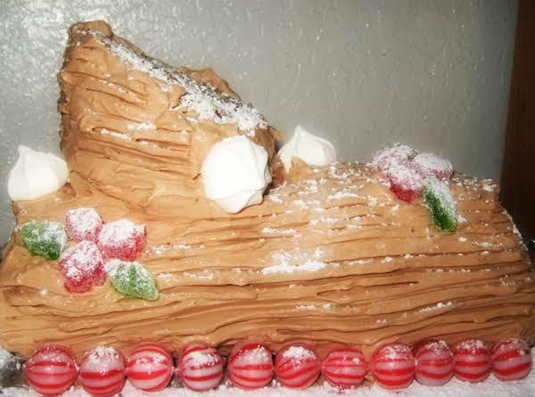 Buche De Noel -- Yule Log Cake