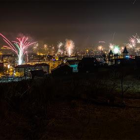 Fireworks 2017 by Daniel Budau - City,  Street & Park  Night ( danielbudau, photographer romania, city deva, deva, fireworks )