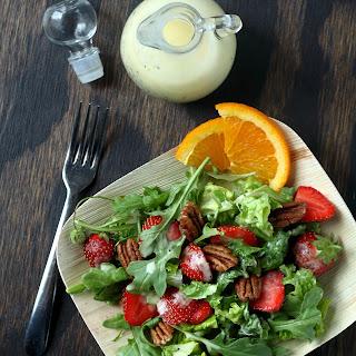 Strawberry Salad with Orange Poppy Seed Dressing