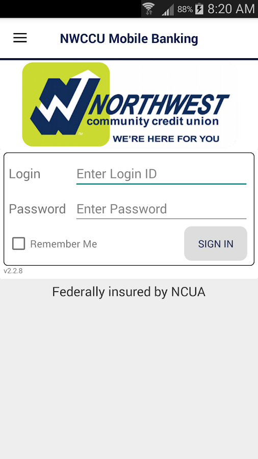 NWCCU Mobile Banking- screenshot