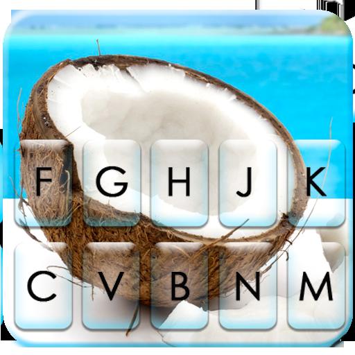 Summer Sunshine Coconut Keyboard Theme Icon