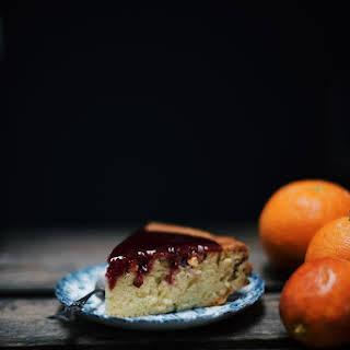 Toasted Pistachio Cake With Blood Orange Sauce (gluten-free).