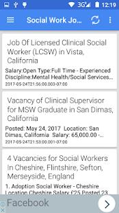 Social Work Jobs - náhled