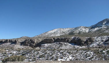 Photo: Snow covering behind Mt. Charleston Resort