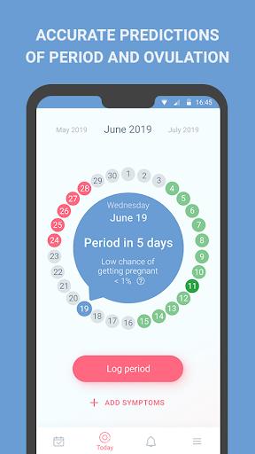 Period tracker screenshot 1