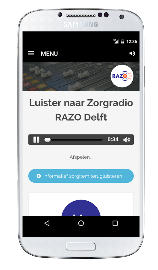 Zorgradio RAZO Delft- screenshot