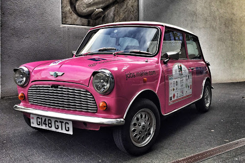 Pink Mini MAHLE Sponsorship | Krys Kolumbus Travel