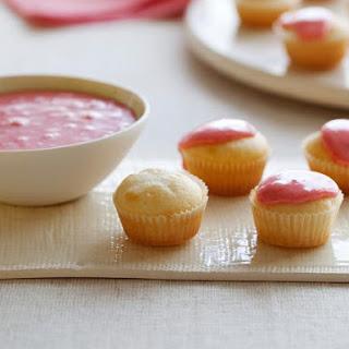 Mascarpone Mini Cupcakes with Strawberry Glaze