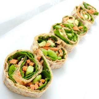 5 Minute Vegan Spiral Wraps