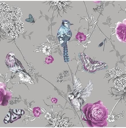 Fantasia Paradise Garden tapet från Arthouse 304296 Silver