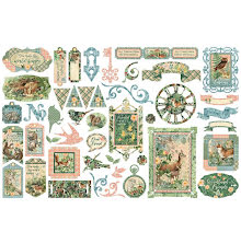 Graphic 45 Cardstock Die-Cuts - Woodland Friends