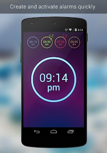 Neon Alarm Clock Free- screenshot thumbnail