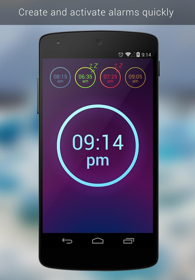 Neon Alarm Clock Free- screenshot