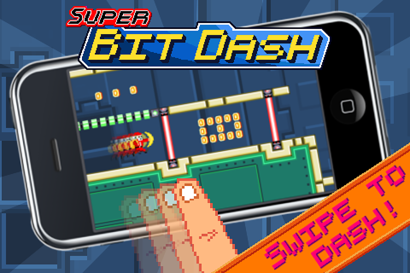 Super Bit Dash- screenshot