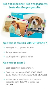 FreePrints - Photos gratuites Capture d'écran