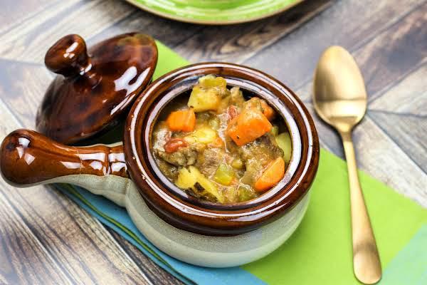 A Crock Of Grandma's Beef Stew.